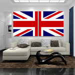 UK England Britain Flag 1, 2, 3, 4 & 5 Piece Multi Panel Canvas Wall Art United Kingdom Union Jack Decor Poster Prints Art Wallpaper Picture