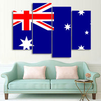 Patriotic Australian Flag 1, 2, 3, 4 & 5 Piece Multi Panel Canvas Wall Art Australia Aussie Decor Poster Print Artwork Wallpaper Picture Art