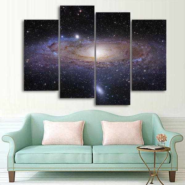 Andromeda Galaxy Stars 1, 2, 3, 4 & 5 Piece Space Canvas Wall Art Decor Images Mural Posters Prints Artwork Wallpaper Pictures Multi Panel