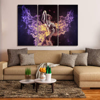 Flaming Hot Beautiful Sexy Woman 1, 2, 3, 4 & 5 Piece Babe Canvas Wall Art Decor Posters Photo Prints Artwork Wallpaper Pictures Multi Panel