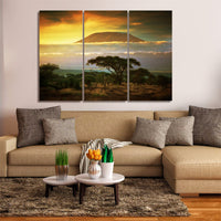 Mount Kilimanjaro Tanzania Africa Volcano 1, 2, 3, 4 & 5 Framed Canvas Wall Art Painting Wallpaper Poster Picture Print Photo Decor