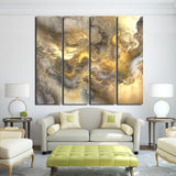 Abstract Art Framed 4 Piece Canvas Wall Art Painting Wallpaper Poster Picture Print Photo Decor