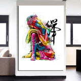 Colorful Buddha Buddhism Faith Buddhist Religion 1 Piece Canvas Wall Art Painting Wallpaper Poster Picture Print Photo Decor