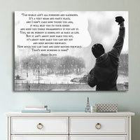 Rocky Balboa Inspirational Motivation Success Business Framed 1 Piece Canvas Wall Art Painting Wallpaper Poster Picture Print Photo Decor