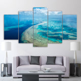 Great Barrier Reef Australia 5 Piece Canvas Wall Art Image Picture Wallpaper Mural Decoration Design Artwork Poster Decor Print Painting Photography