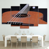 Guitar Instrument Framed 5 Piece Music Canvas Wall Art Painting Wallpaper Poster Picture Print Photo Decor