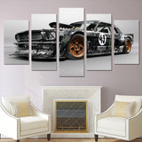 Ford Mustang RTR Racing Sports Car Framed 5 Piece Canvas Wall Art Painting Wallpaper Poster Picture Print Photo Decor