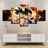 Dragon Ball Z Cartoon Framed 5 Anime Canvas Wall Art Painting Wallpaper Poster Picture Print Photo Decor