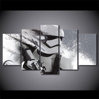 Star Wars Movie Stormtrooper Framed 5 Piece Canvas Wall Art Print Picture Poster Painting Decor