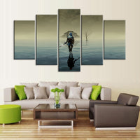 The Legend Of Zelda Framed 5 Piece Video Game Canvas Wall Art Painting Wallpaper Poster Picture Print Photo Decor
