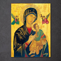 Virgin Mary & Jesus Christian Religion Faith Framed 1 Piece Canvas Wall Art Painting Wallpaper Poster Picture Print Photo Decor