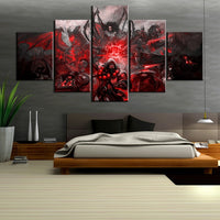 World of Warcraft Game Framed 5 Piece Canvas Wall Art Painting Wallpaper Poster Picture Print Photo Decor