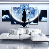 Large Bleach Moon Anime Cartoon Framed 5 Piece Canvas Wall Art Painting Wallpaper Poster Picture Print Photo Decor