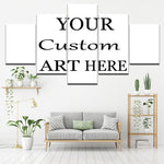 5 Piece Framed Custom Canvas Personalized Prints