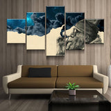 Smoke & Wonder Beard Man Framed 5 Piece Canvas Wall Art Picture Print Art