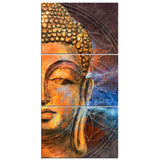 Buddha Statue Face Buddhist Buddhism Zen Framed 3 Piece Canvas Wall Art Painting Wallpaper Poster Picture Print Photo Decor