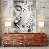 Buddha Buddhism Buddhist Framed 1 Panel Piece Canvas Wall Art Painting Wallpaper Poster Picture Print Photo Decor