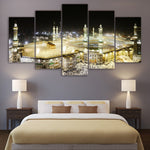 Islamic Muslim Saudi Arabia Mosque Framed 5 Piece Canvas Wall Art Painting Wallpaper Poster Picture Print Photo Decor