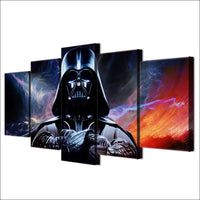 Star Wars Movie Darth Vader Framed 5 Piece Canvas Wall Art Painting Poster Picture Print Photo