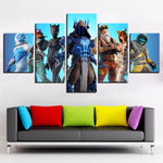 Fortnight Battle Royale Framed 5 Piece Video Game Canvas Wall Art Image Picture Wallpaper Mural Artwork Poster Decor Print Painting Photography