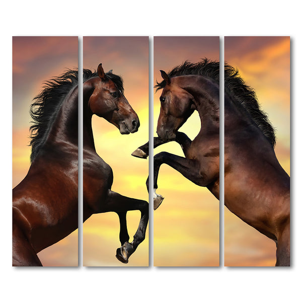 Brown Horse Yellow Wall Animal Mare Print  NEW POSTER