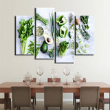 Kitchen Dining Room Food Restaurant Framed 4 Piece Canvas Wall Art Painting Wallpaper Poster Picture Print Photo Decor