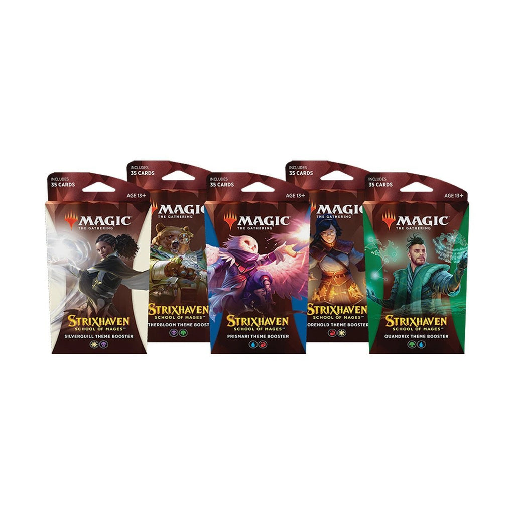 Magic The Gathering - Strixhaven School of Mages - Theme Booster (Set Of 5) - Invasion Toys - Invasion Toys