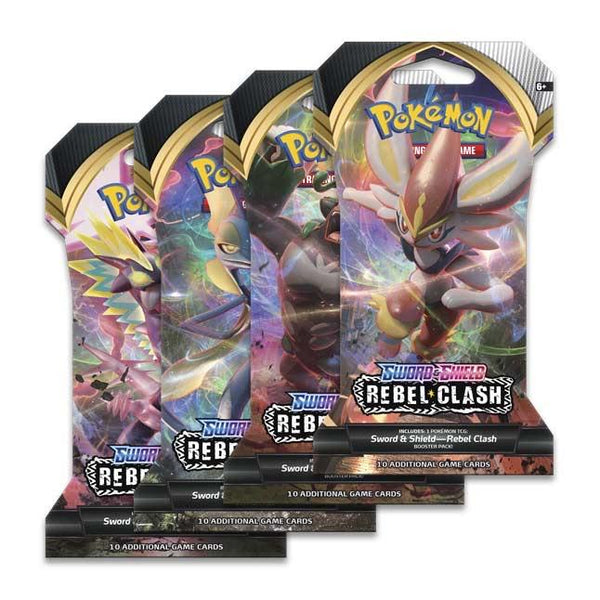Pokemon - Sword & Shield: Rebel Clash - Sleeved Booster Pack - Pokémon - Invasion Toys