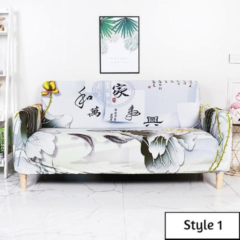 Chinese Flowers Lounge Sofa Cover