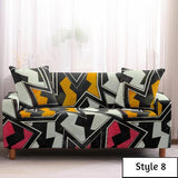 Geometric Elastic Sofa Cover