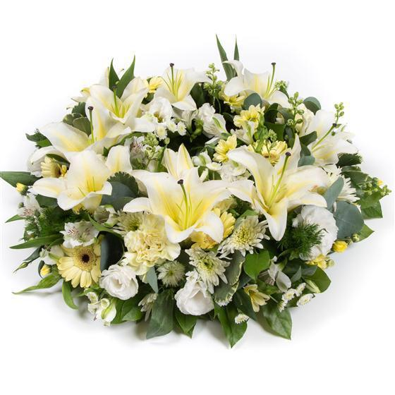White Sympathy Wreath