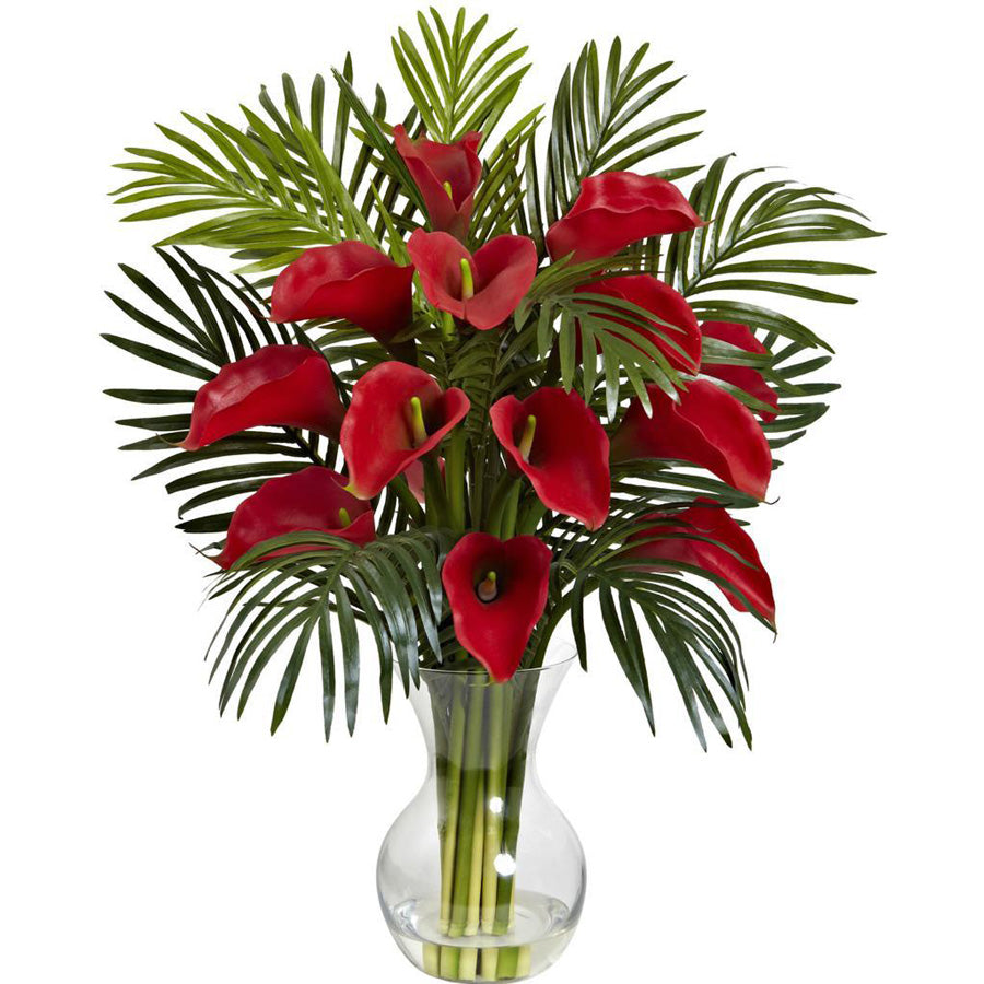 Red calla bouquet