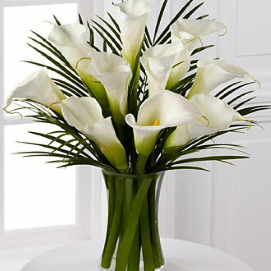 White calla bouquet