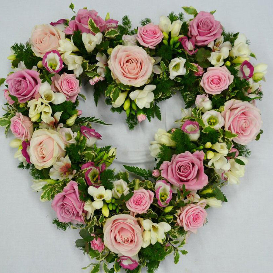 Roses Heart shape arrangement