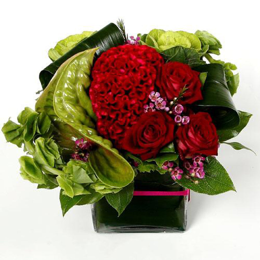 Celosia & Anthurium arrangement