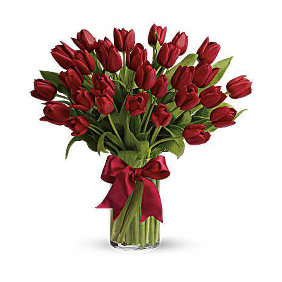 25 Red Tulips bouquet