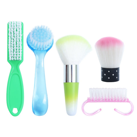 Nail Cleaning Brush Powder Dust Remover
