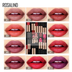10 Colors Waterproof Full Professional Makeup Lipstick