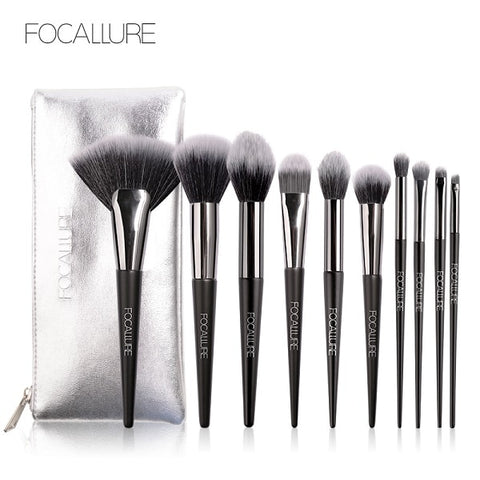 Professional Makeup Brushes and Bag