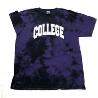College Tee In Tye Dye