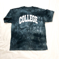 College Tee In Tie Dye
