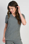 Aspen v 2.0 | Women's 5-Pocket Handwarmers Top | Heather Graphite