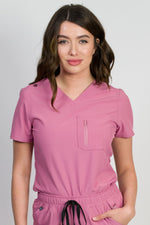 Newport | Women's 2-Pocket Chest Top | Mauve