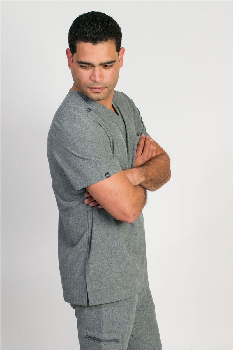 Anderson | Men's 2-Pocket Chest Top | Heather Graphite