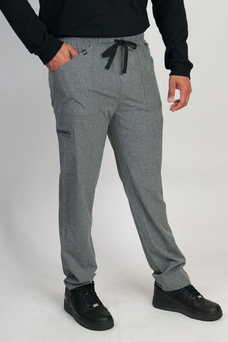 Caspian | Men's 9-Pocket Straight Leg Pants | Heather Graphite