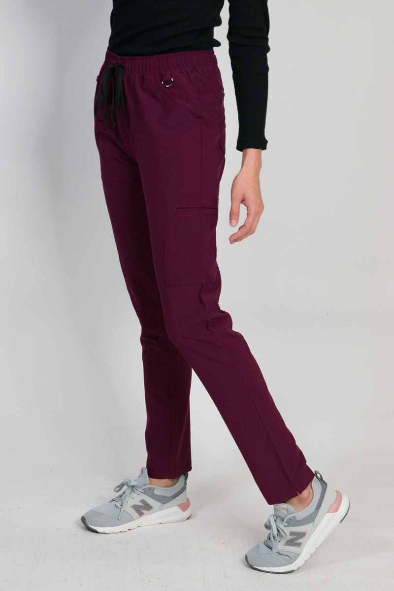 Avalon | Women's 6-Pocket Skinny Pants | Burgundy