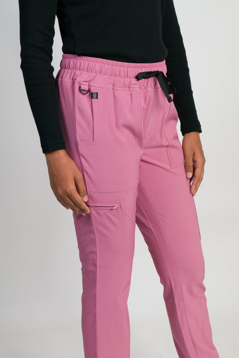 Sierra | Women's 6-pocket Gathered Cuffs Jogger Pants | Mauve