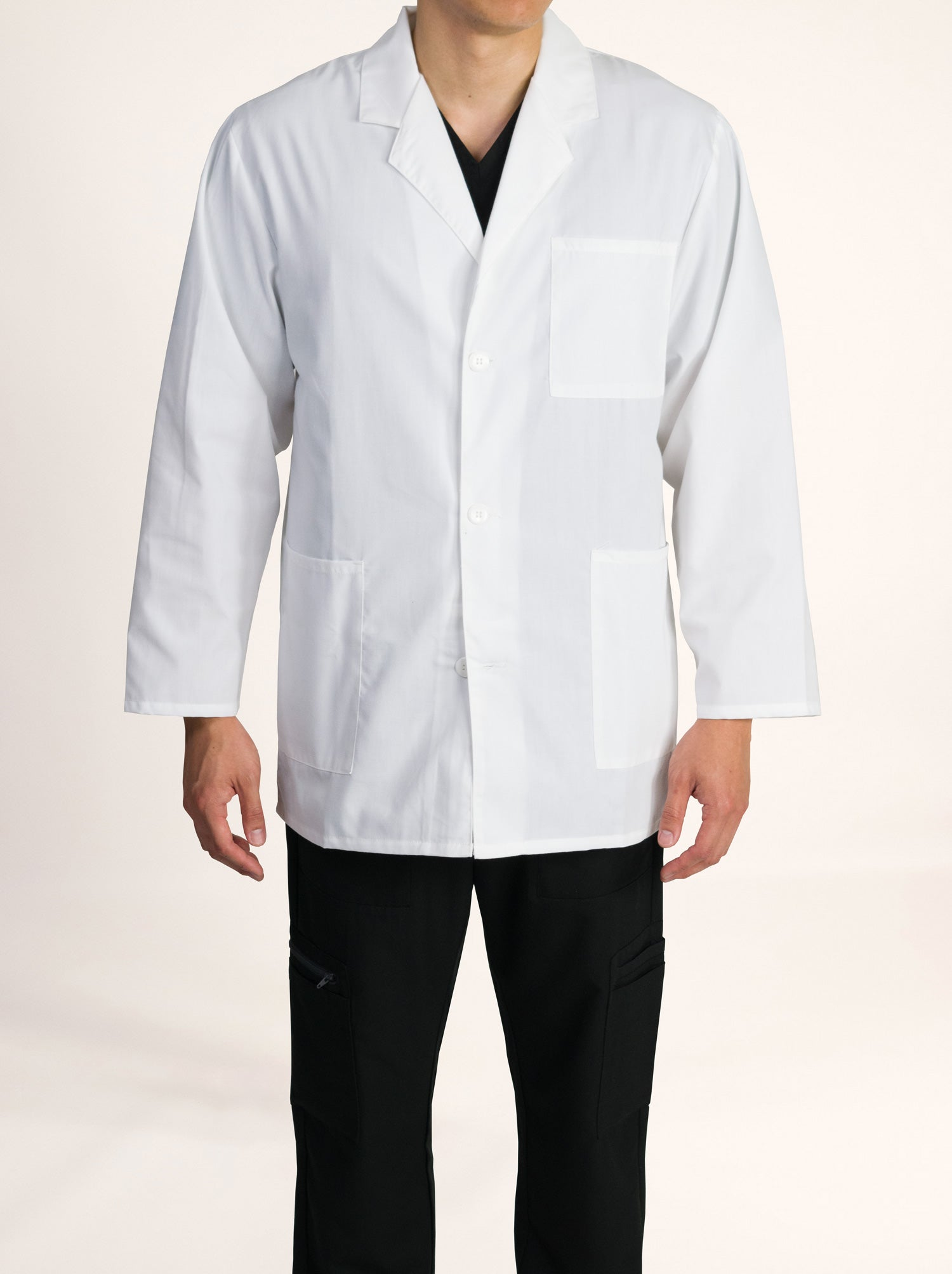 "Men's 33"" White Lab Coat"
