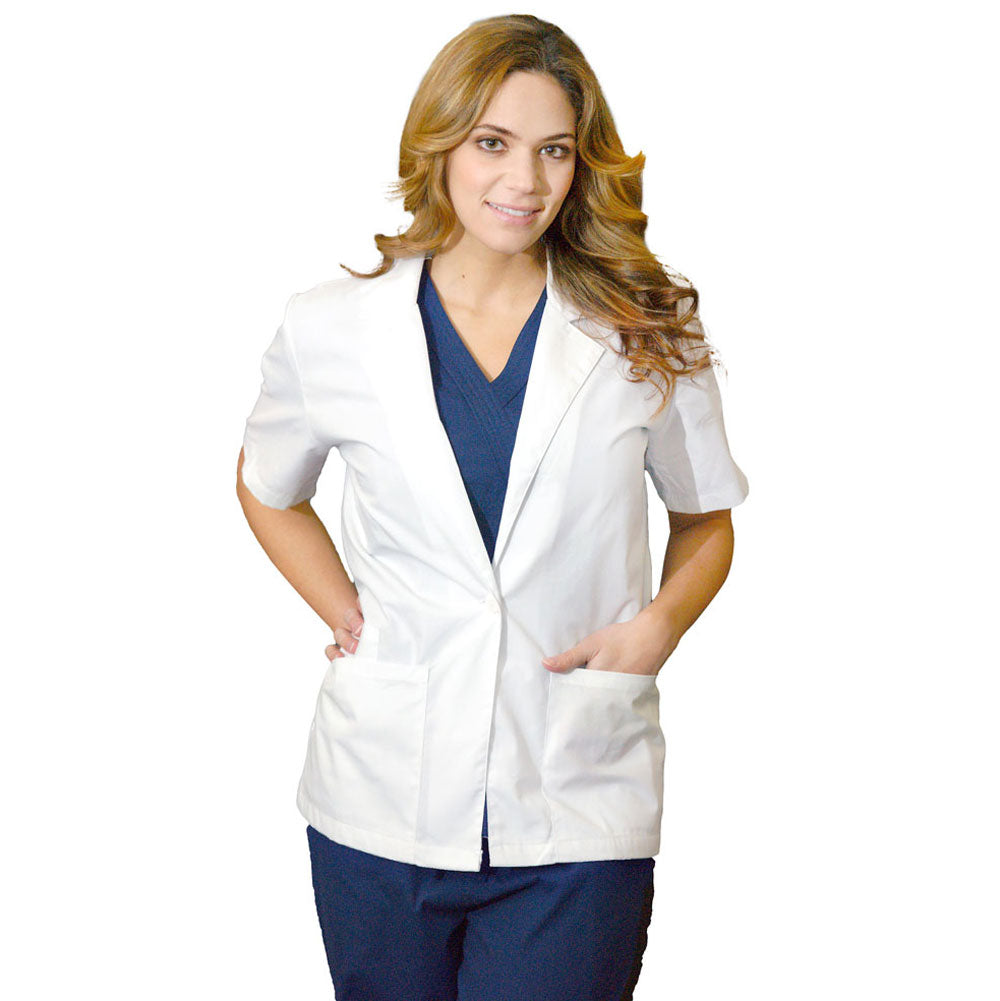 Women's Short Sleeve Lab Coat