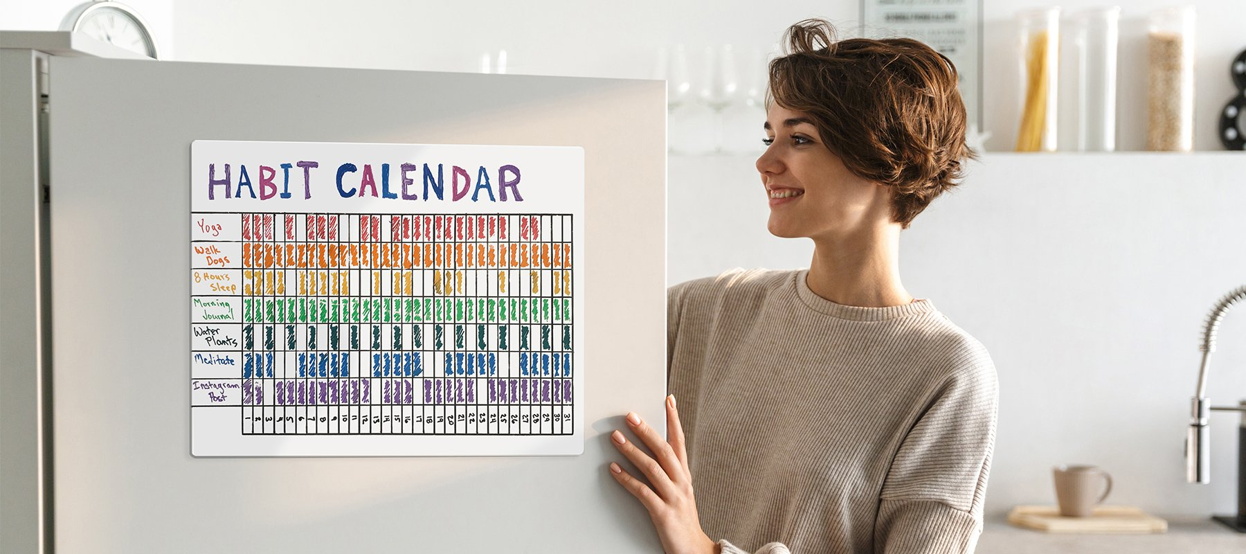 Stay Focused on Your New Routine with a Visual Habit Calendar This Year
